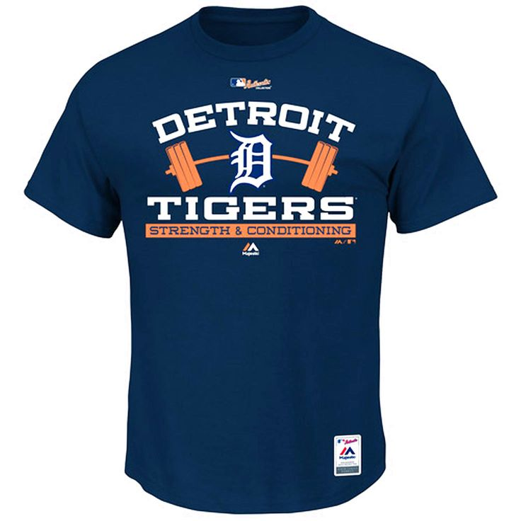 Detroit Tigers Majestic Authentic Collection Strength & Conditioning T-Shirt - Navy - $22.39