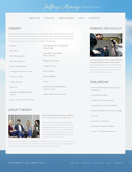 Jeffrey Murray Website Templates by Delta
