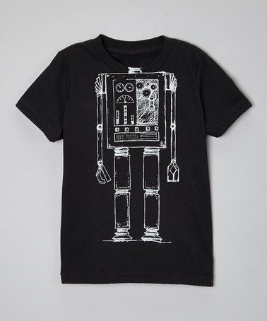 Another great find on #zulily! Black Robot Body Tee - Toddler & Kids #zulilyfinds