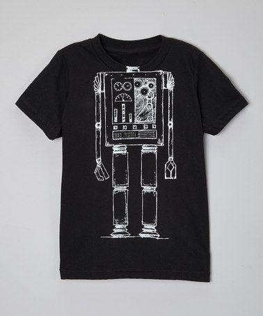 Another great find on #zulily! Black Robot Body Tee - Toddler & Kids #zulilyfinds