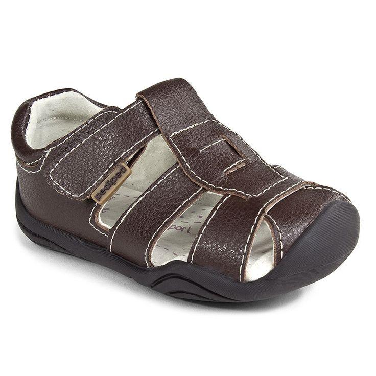 Pediped Sydney Grip N Go Boys Fisherman Leather Brown Summer Sandals Size 19- 22