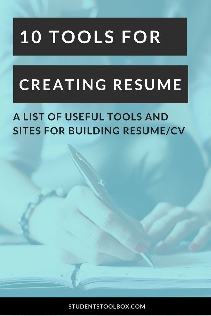 10 Tools For Creating A Stunning Resume
