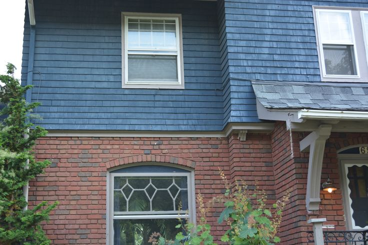 Best Blue With Red Brick Grey Roof Shingles Highland Square 400 x 300