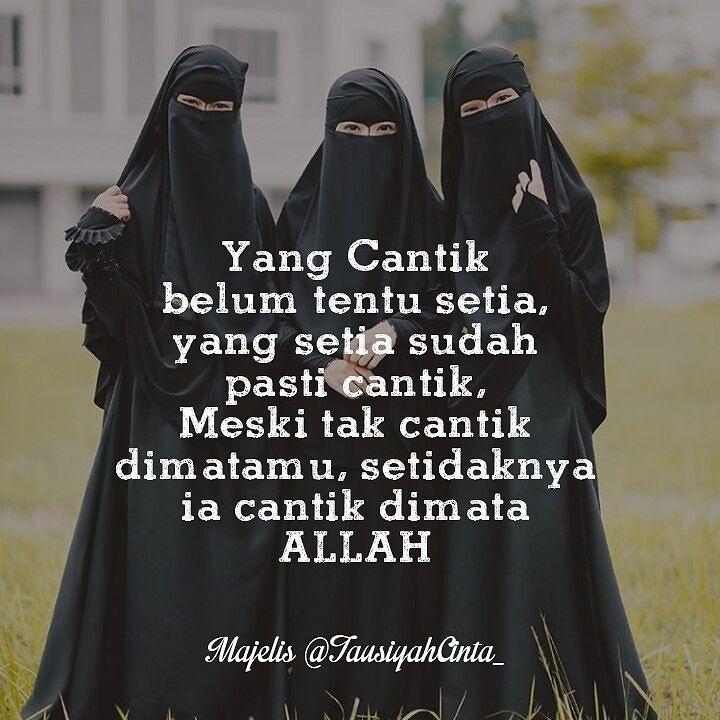 Dengan dia cantik di hadapan Allah lalu Allah ridha dan meberkati hatimu yang selalu nyaman dan tenang ketika memandang istrimu. ' Maka cantiklah dia indahlah dunia. .  Follow @MuslimahIndonesiaID  Follow @MuslimahIndonesiaID  Follow @MuslimahIndonesiaID  .  Remake Berani Berhijrah #Muslimah #Cantik http://ift.tt/2f12zSN