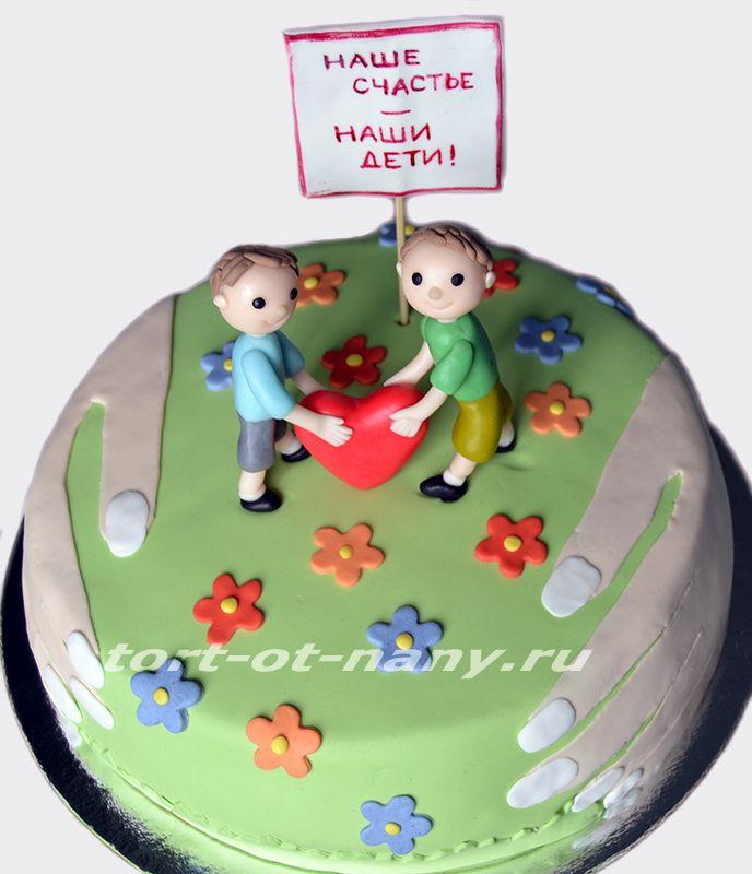 Торт победительнице конкурса на День защиты детей