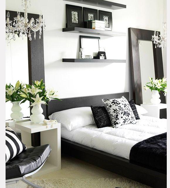 Black And White Bedroom Designed By Holzman Interiors Modern Black And White Bedroom By Interior Design Photographer Zack Benson
