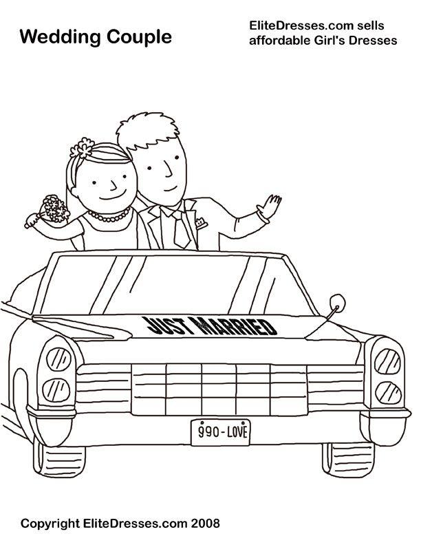 elitedressescom sells affordable girls dresses wedding couple coloring page