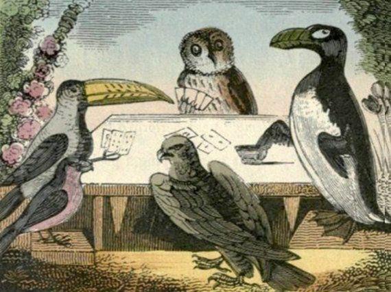 Pinguïn Clipart, Owl, antieke vogel Print, Vintage vogel Print, Vintage antieke vogel Image downloaden, Toucan Image, vogels speelkaarten
