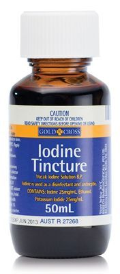 Survival items - Iodine - 5-10 drops to a quart of water can purify the water for drinking -- could save your life!