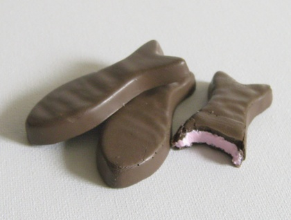 chocolate fish magnets