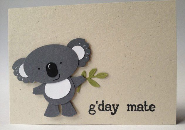Stampin up punch art koala with instructions by Carolyn Bennie