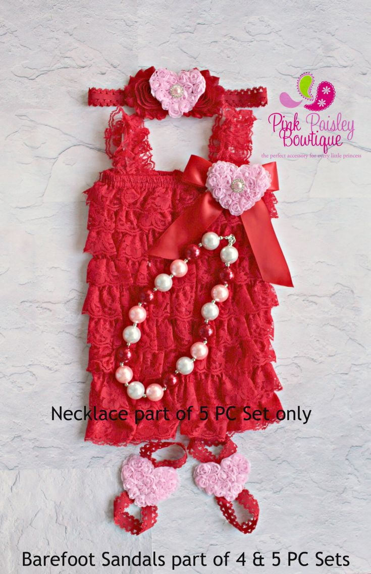 A personal favorite from my Etsy shop https://www.etsy.com/listing/165752562/valentines-dress-petti-lace-romperValentine's Dress - Petti Lace Romper- Ruffle Rompers - Valentine's Day Outfit - Red Petti Romper - Birthday Outfit -  Baby Rompers