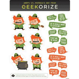 Free Evil Leprechaun Sticker Pack on freestuffjilly.com