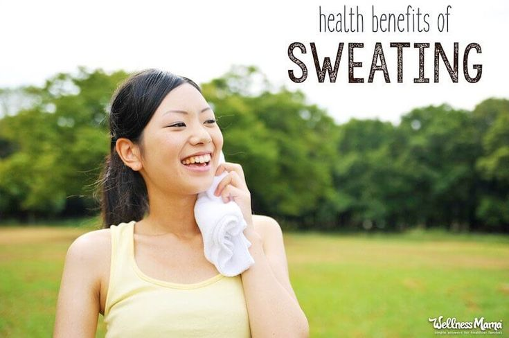 11 Convincing Health Benefits of Sweating | Wellness Mama  ||  Working up a good sweat is a safe and free way to detoxify, protect heart health, reduce stress and more. Learn why sweating is good for you and get started reaping the benefits of sweating today. https://wellnessmama.com/285784/sweating-benefits/#2982669983-tw%231515866884155?utm_campaign=crowdfire&utm_content=crowdfire&utm_medium=social&utm_source=pinterest