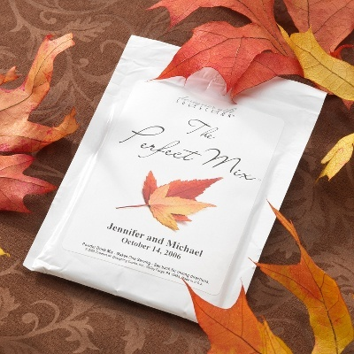cost saving favor for Fall weddings!! This would be cute as a favor, but hot cider instead of hot chocolate