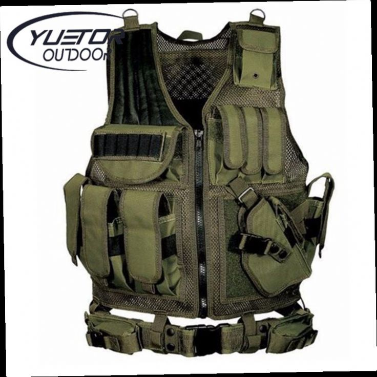 41.02$  Buy now - http://ali6p4.worldwells.pw/go.php?t=32789142824 - Brand YUETOR police tactical vest outdoor camouflage military body armor sports wear hunting vest army swat molle vest