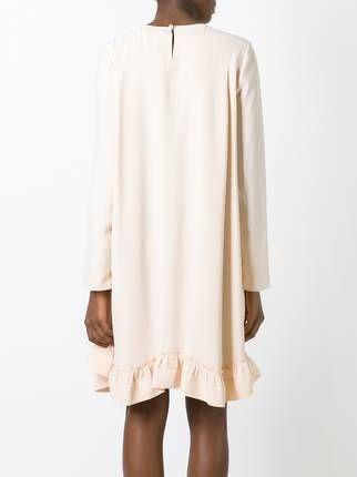 Chloé платье с оборками