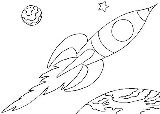 Wayne Schmidt's Free Space Ship Coloring Page Rocket