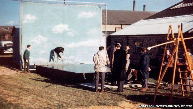 Original Thunderbirds filming in Slough