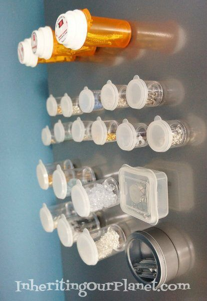 Easy to make Repurposed Magnets out of prescription bottles.