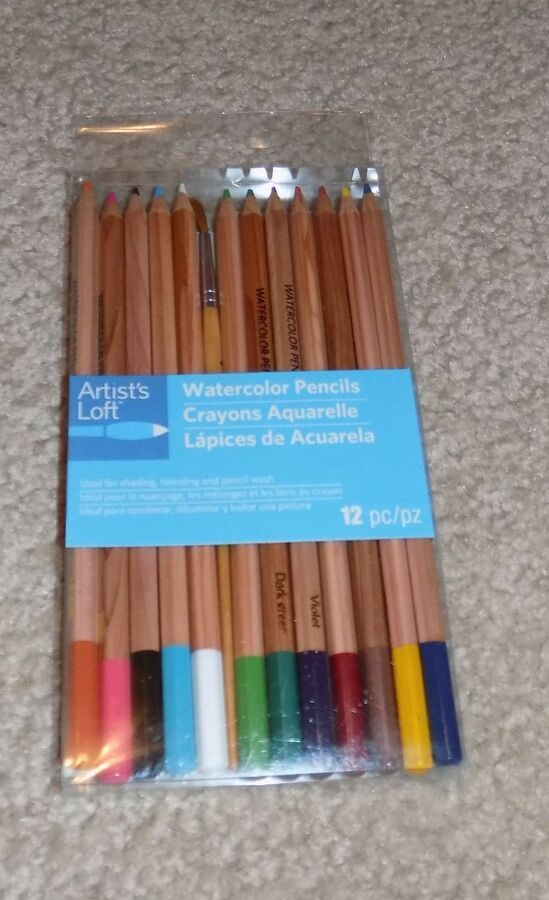 New Artist S Loft Watercolor Pencils 12 Piece Set With Brush