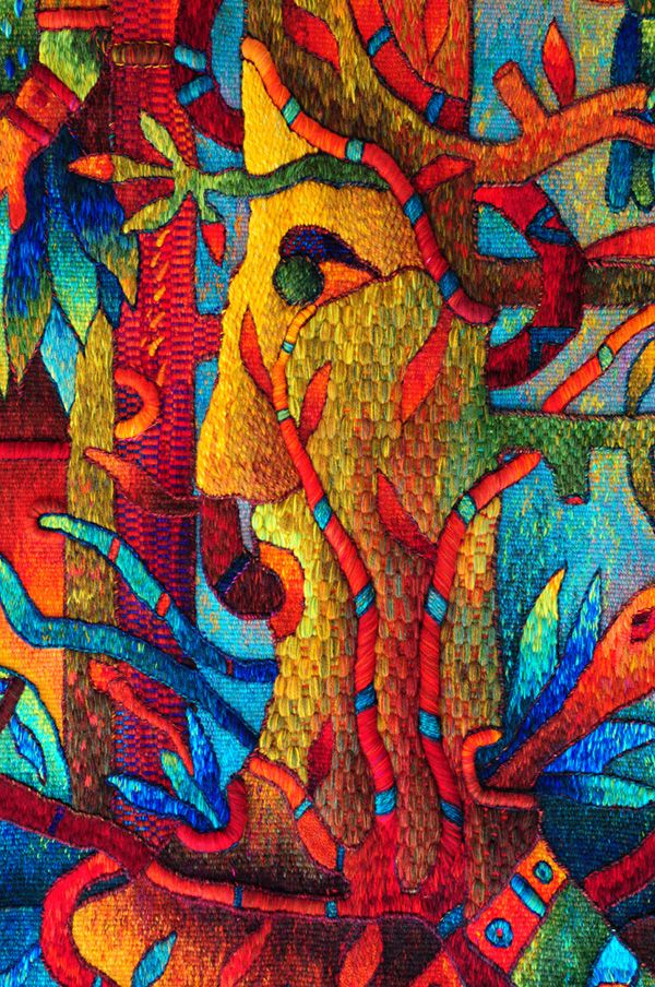 "Detail, ""Mayor Spirit"", Hand-woven Tapestry, Maximo Laura"