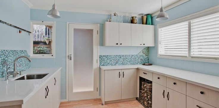 fantastic big laundry, always wanted one of these! And more of the custom mosaic splash