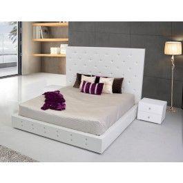 Elbrus - White Modern Leather Platform Bed - 1675.0000