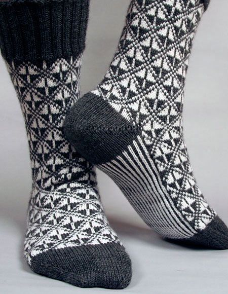 Art Deco Socks - Knitting Patterns and Crochet Patterns from KnitPicks.com