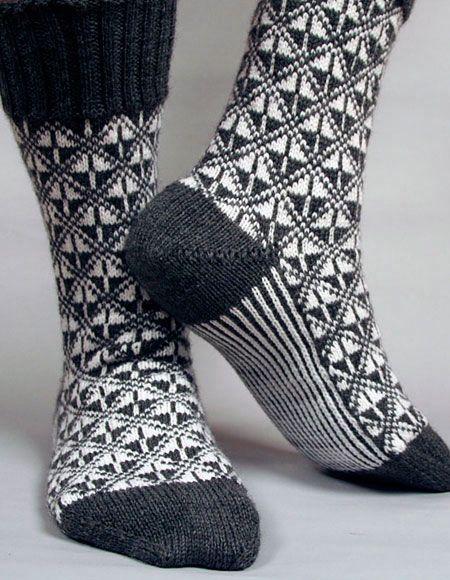 Art Deco Socks - Knitting Patterns and Crochet Patterns from KnitPicks.com