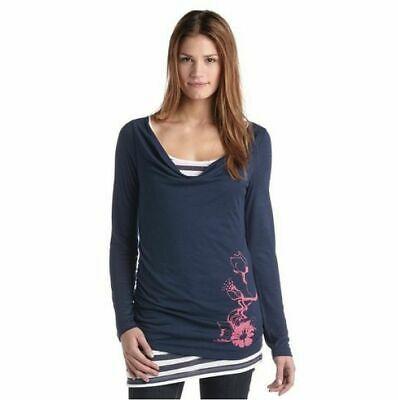 DAMEN Maui Wowie Navy Longsleeve 2-in-1 Shirt Slee…