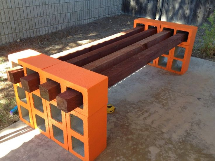 Concrete Block Bench Ideas With Cinder Block Bench Hd Image 477 High Definition Home Design Up