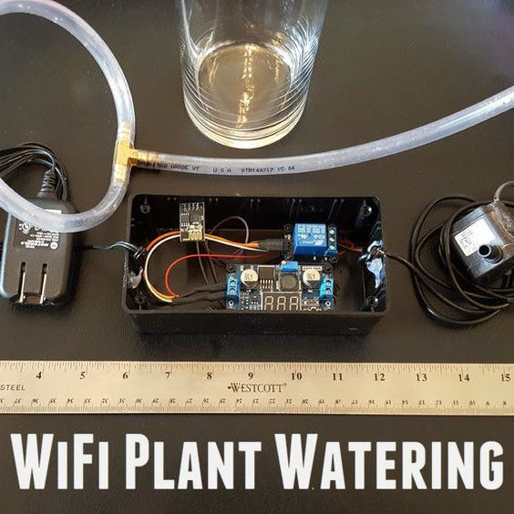 Never forget to water your plants again with this WiFi plant watering system.