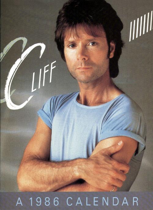 Cliff Richard 1986 calendar. The Peter Pan of pop music!