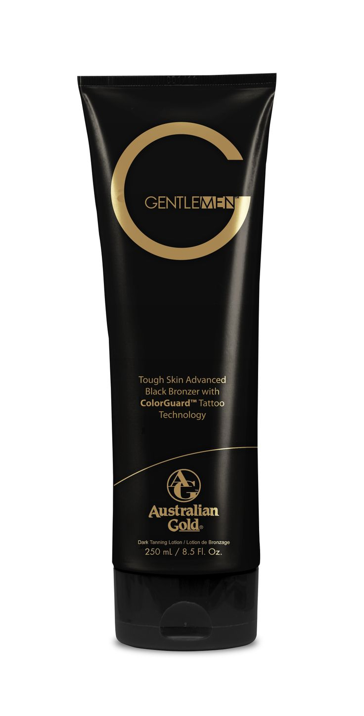 Australian Gold G Gentlemen ® Tough Skin Advanced Black Bronzer - INTENSIFICATORE CON DHA Prodotto a base acqua di cocco, per una perfetta idratazione. La combinazione di Bronzers naturali e DHA garantisce un risultato scuro, immediato e prolungato. Il complesso CellActive ® è specificamente studiato per pelli maschili ed apporta un'idratazione estrema per un colore intenso e profondo. ColorGuard™ Tattoo Technology previene lo scolorimento dei tatuaggi.