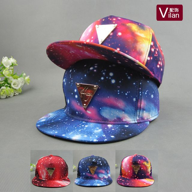 Удивительные пространство звезды 3 стиле регулируемый свободного покроя бейсболки 2015 хип-хоп мода шляпы и шапки