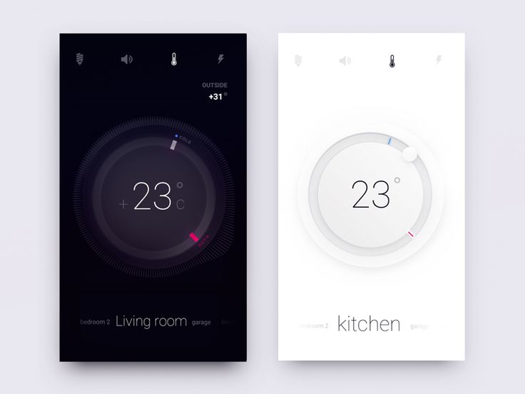 White or Dark. Smart Home Controls shared via https://chrome.google.com/webstore/detail/design-hunt/ilfjbjodkleebapojmdfeegaccmcjmkd?ref=pinterest
