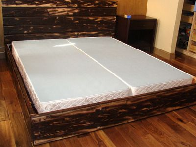 How to Build a Wooden Bed Frame around an existing metal bed frame (I would use my headboard and build the fame)