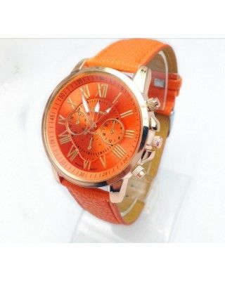 Women Fashion Luxury Watch Orange