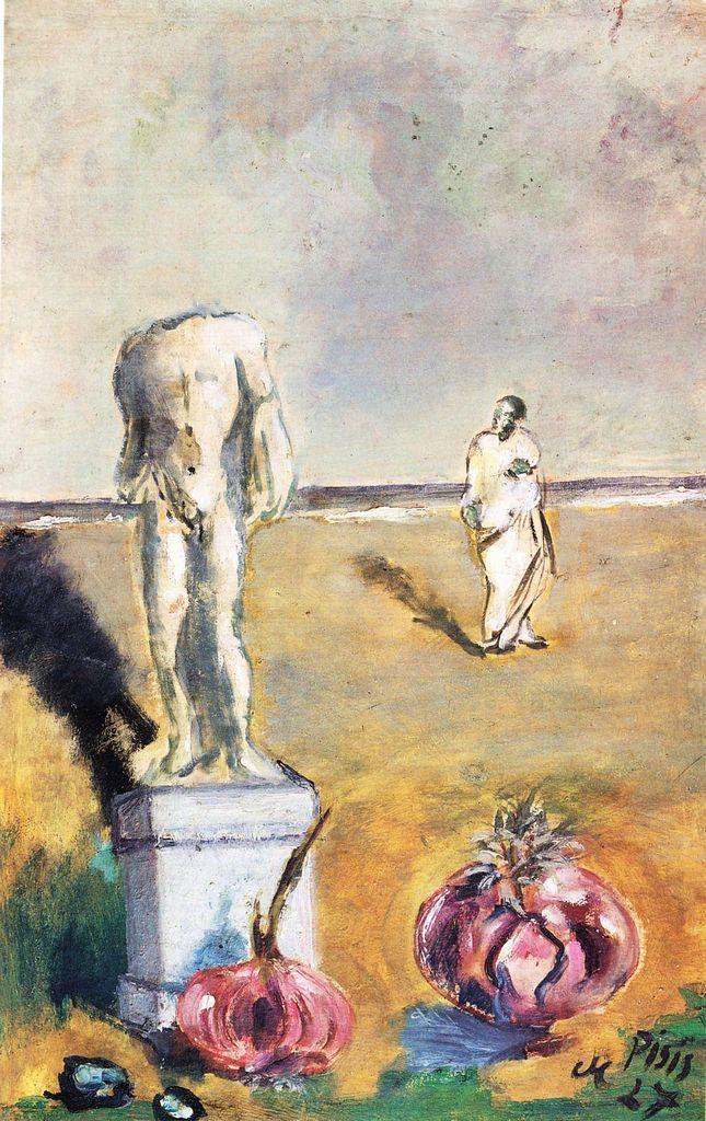 Filippo De Pisis Tibertelli - Les oignons de Socrates, 1927 - Private Collection