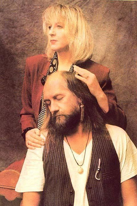 Christine McVie and Mick Fleetwood