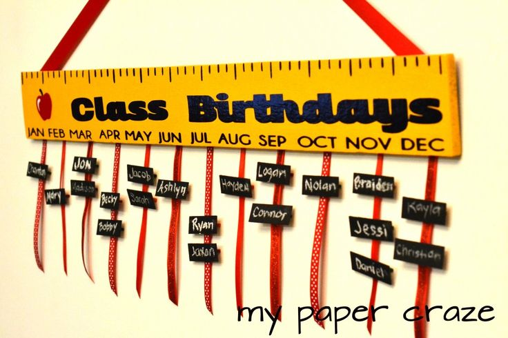 Join us today to make a wonderful DIY Teacher Appreciation Gift: Class Birthday Board with pallet wood, paint, vinyl and ribbon!