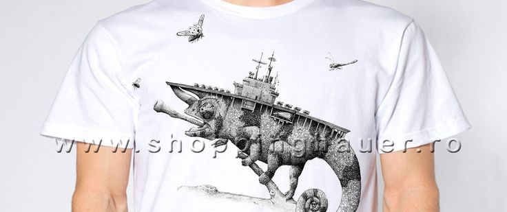 t-shirt: cameleon portavion. s-xxxl
