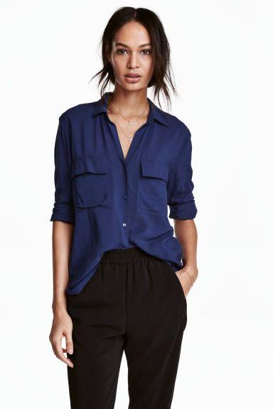 Wiskozowa koszula | H&M