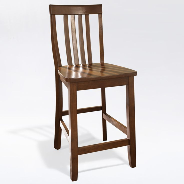 Crosley Furniture CF500324-CH School House Bar Stool in Classic Cherry Finish with 24 Inch & Best 25+ 24 inch bar stools ideas on Pinterest | Hand painted ... islam-shia.org