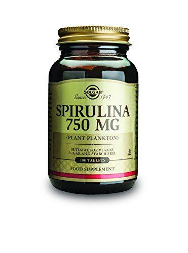 Solgar Spiruline 750mg 100 Tablets: Phytoplancton.Convient aux végétariens. La Spiruline est une algue d'origine Hawaïenne qui a de…
