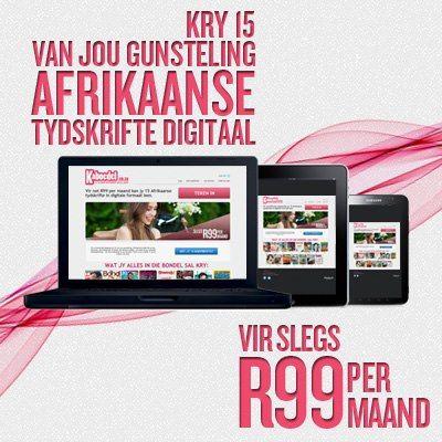 Kry 15 van jou gunsteling AFRIKAANSE tydskrifte digitaal vir slegs R99 per maand van The Bundle.co.za- of jy kan 'n inskrywing wen by www.saconsumerguide.co.za