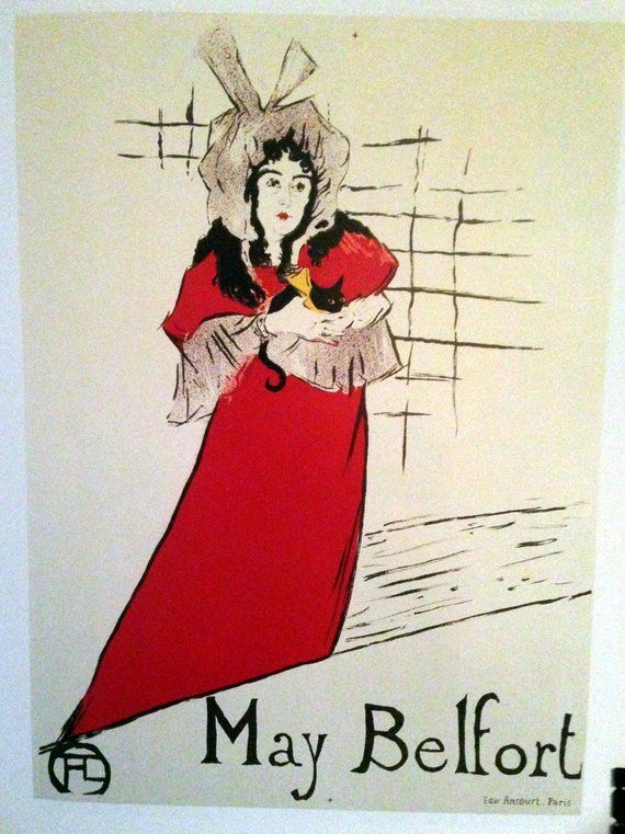 ToulouseLautrec Fine Art Poster Print quot May Belfort quot 1895