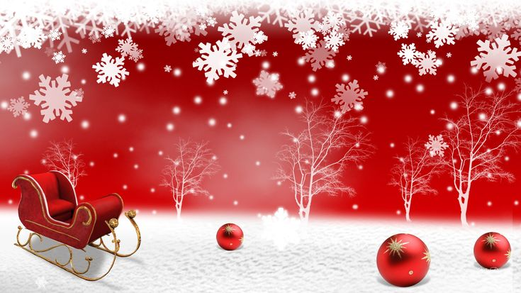 Free Christmas Wallpapers and PowerPoint Backgrounds Pictures- Red ...