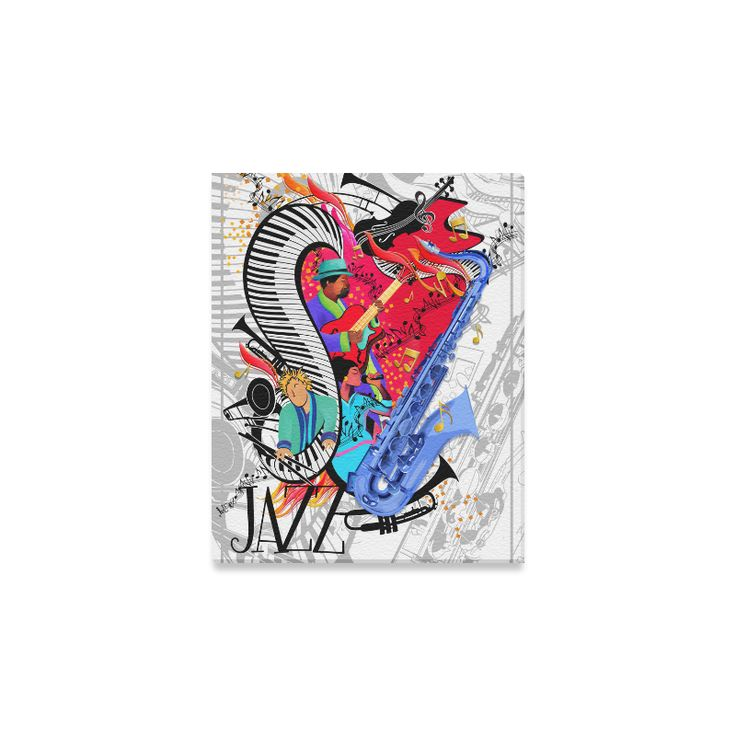 "8x10 Print Canvas by Juleez Guitar Piano Design Cool Jazz Gift Print by Juleez Canvas Print 8""x10"""